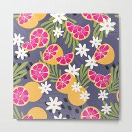 Grapefruit pattern 02 Metal Print