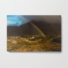 Rainbow At Hungry Hill Beara Peninsula Metal Print