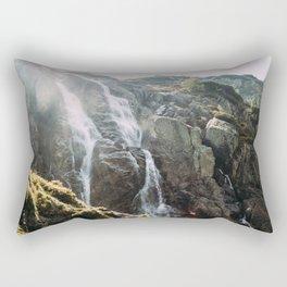 Waterfall In Sunlight   Siklawa Tatry Rectangular Pillow