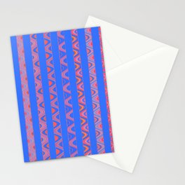 Vintage Modernist African Rhythmic Lines Stationery Cards
