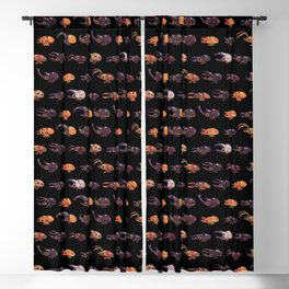 Rhino and Stag - dark Blackout Curtain