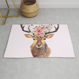 Winter Deer Rug