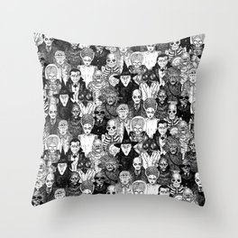 Horror Film Monsters Throw Pillow