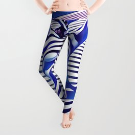 9665s-KMA_5201 Powerful Blue Woman Open Free Striped Sensual Sexy Abstract Nude Leggings