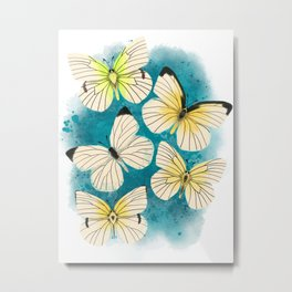 Lyside Sulphur Butterfly Pattern Metal Print