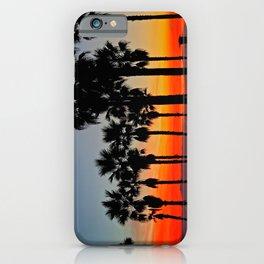 Huntington Beach Sunset Palms     ~    12/13/13 iPhone Case