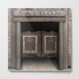 Wild West Cowboy Saloon Metal Print
