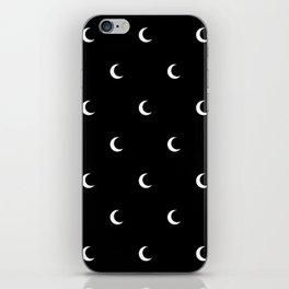Crescent Moon Halloween Pattern iPhone Skin