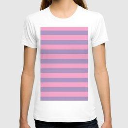 Pink & Lavender Stripe Pattern T-shirt