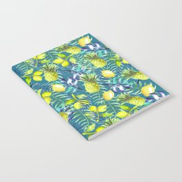 Tropical Pineapples & lemons cocktail Notebook