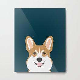 Teagan - Corgi Welsh Corgi gift phone case design for pet lovers and dog people Metal Print
