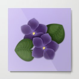 Violets are purple Floral Pattern Blossoms Metal Print