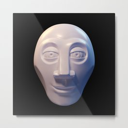 Alien-human hybrid head Metal Print
