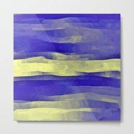 Sun Rays, Wind and Cobalt Sky Abstract Metal Print
