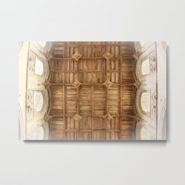 Wooden church ceiling  Metal Print
