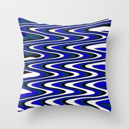 Monochromatic blue slur Throw Pillow