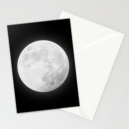 CHALK WHITE MOON Stationery Cards