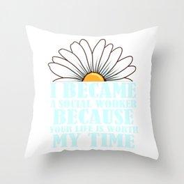 Womens Social Worker Gift Product Graduation Social Work  Design Throw Pillow