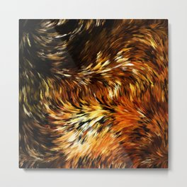 Fox Tails Abstract Metal Print
