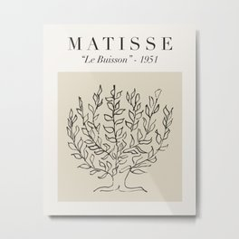 """Matisse - """"Le Buisson"""", Mid Century Abstract Art Decor Metal Print"""