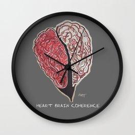 Heart Brain Coherence Art & Text Supporting Matthew Tischler Wall Clock