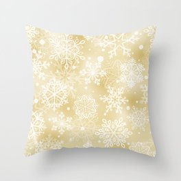 Snowflakes pattern Throw Pillow