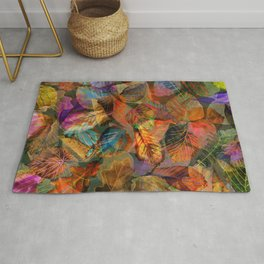 Painted Autumn Leaves Rug