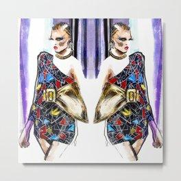 Fashion sketch Metal Print