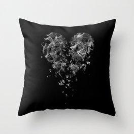 smoke broken heart Throw Pillow