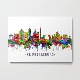 St. Petersburg Russia Skyline Metal Print