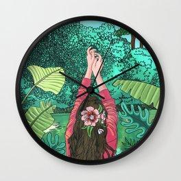 Comic Book Jungle Wall Clock