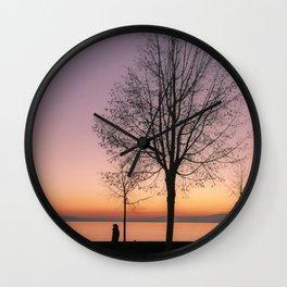 Geneva Lake In Wintertime Wall Clock