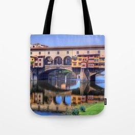 Amazing Historic Ponte Vecchio House Bridge Florence Italy Ultra HD Tote Bag