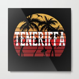 Teneriffa Palms Vacation Motif Gift Idea Design Metal Print