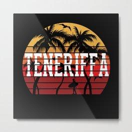 Teneriffa Palms Vacation Motif Gift Idea Design Metal Print