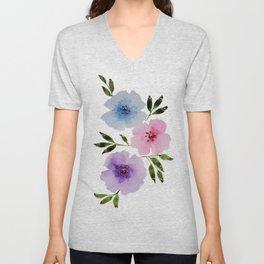 Floral Fanciness... Unisex V-Neck