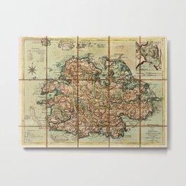 Map Of Antigua 1779 Metal Print