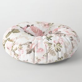 Vintage & Shabby Chic - Sepia Pink Roses  Floor Pillow