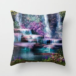 Fantasy Forest Throw Pillow