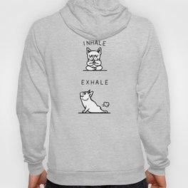 Inhale Exhale French Bulldog Hoody