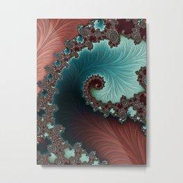 Velvet Crush - Teal/Copper Metal Print