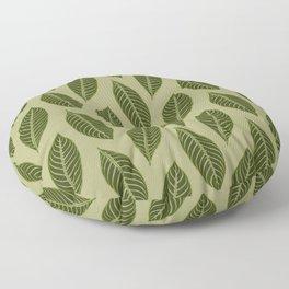 ever green foliage Floor Pillow