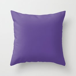 Solid Ultra Violet pantone Throw Pillow