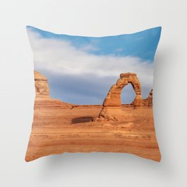 Delicate Arch 0415 - Arches National Park, Moab, Utah Throw Pillow