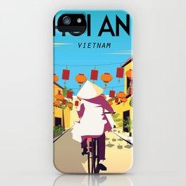hoi an vietnam vintage travel poster iPhone Case