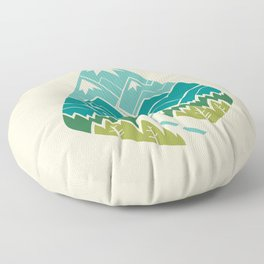 The Road Goes Ever On: Spring Floor Pillow