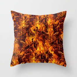 Fire and Flames Pattern Throw Pillow