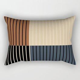 Color Block Line Abstract I Rectangular Pillow