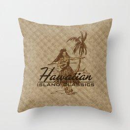 Tradewinds Hawaiian Island Hula Girl Throw Pillow