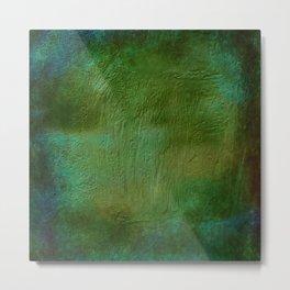 Shades of Deep Green Texture Metal Print